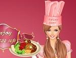 تلبيس الطباخة الوردية